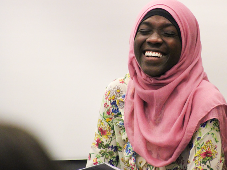 Image of female student smiling